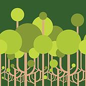 wallpaper of trees