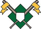 Crossed Bats Emblem