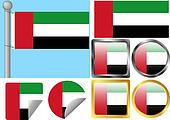 Flag Set United Arab Emirates