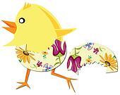 chicken run from easter egg