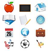 abstract school education icon