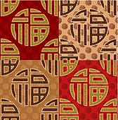 chinese Fu good luck, seamless art