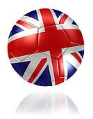 United Kingdom flag soccer ball