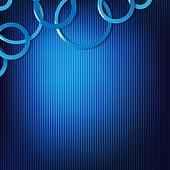 Dynamic Blue Background With Circles