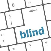 Modern keyboard key with words blind