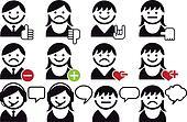 avatar vector icon set