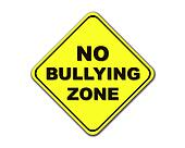Yellow No Bullying Zone sign