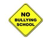Yellow No Bullying School sign