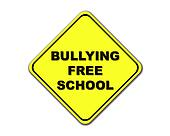 Yellow Bullying Free School sign