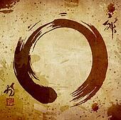 Zen circle vintage background