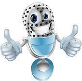 Microphone cartoon character