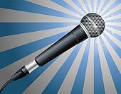 Microphone. Vector illustration