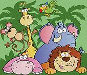 Cartoon Jungle Animals