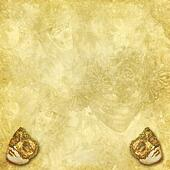 Venetian masks golden background