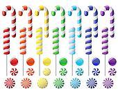 Delicious colorful lollipop collection