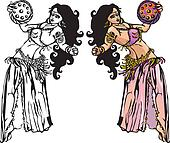 belly dance with tambourine