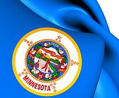 Flag of Minnesota, USA.