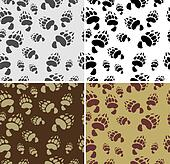 Bear tracks Seamless Texture