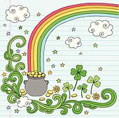 End of the Rainbow Treasure Vector