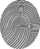 drawing vector fingerprint