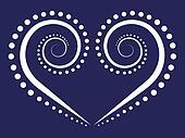 vector swirl heart