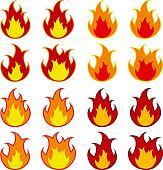 vector fire flames