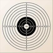 vector paper rifle target