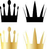 vector crown symbols
