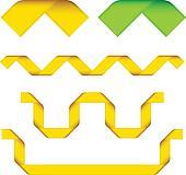 vector ribbon corners