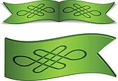 vector ribbons with endless celtic knot