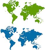vector striped world map
