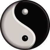 Yin Yang vector symbol