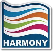 vector harmony abstract wave sticker