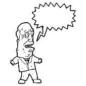 old man shouting