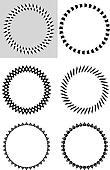 Sis black & white design elements