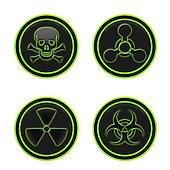 Icon depicting the hazard symbols