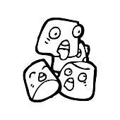cartoon marshmallows