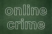 Privacy concept: Online Crime on chalkboard background