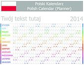 2014 Polish Planner-2 Calendar with