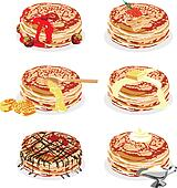 pancakes with different fillings