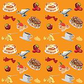 background with pancakes