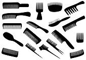 Vector hairdresser tools isolated on white