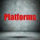 Platforms concrete wall