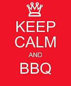 Keep Calm and BBQ red sign