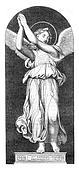 Archangel Raphael, vintage engraving.