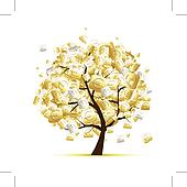 Money tree concept with euro signs for your design