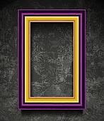 Fachion Picture Frame on Grunge Wall