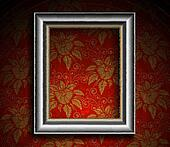 Silver Antique Frame on Grunge Wall