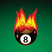 Pool Ball of Fire