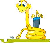 Cartoon Character Snake